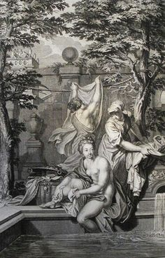 129. David and Bathsheba. 2 Samuel cap 11 v 2. Picart