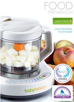 i love my baby brezza, helps me make yummy homemade organic baby food in no time, super easy to use and clean, saves me tons of time