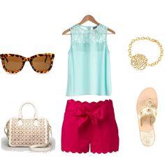 """Bright & Preppy Summer Days"" by fashiongd101 on Polyvore"