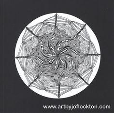 Twisted Lotus Zendala, original art, $35.20