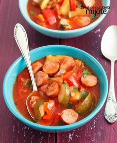 My Food and Family Crock Pot Slow Cooker, Crock Pot Cooking, Slow Cooker Recipes, Crockpot Recipes, Healthy Recipes, What's Cooking, Dump Recipes, Boiled Dinner, Sausage Stew