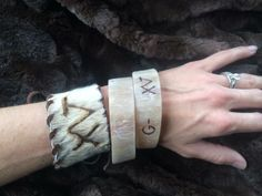 Bull horn bangles with brands from Ranchy Rose Designs
