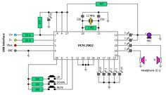 USB mp3 player circuit diagram