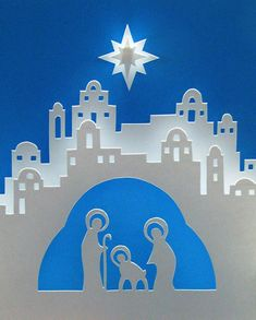 Cut Paper Crèche scene. I wish I could find the pattern.