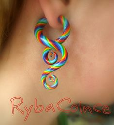 Fake ear gauge / Faux gauge/Gauge earrings / fake piercing  The children of the summer on Etsy, $22.96