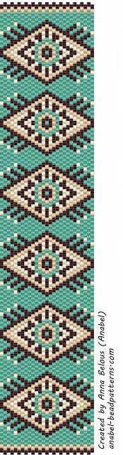 Схема браслета - мозаичное плетение