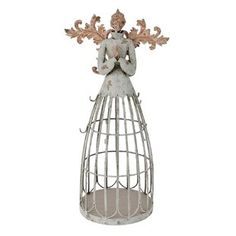 The Holiday Aisle Antiqued metal garden angel with hook. Great display for garden or home, yard lawn flowerbed outdoor décor. Angel Garden Statues, Garden Angels, Christmas Decorations Online, Decorating With Christmas Lights, Hanging Potted Plants, Christmas Lamp Post, Christmas Ideas, Flower Ceiling, Reindeer Lights