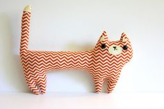 Creamsicle the cat - Limited Edition - Made to order. by Sleepy King via Etsy.