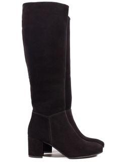 Xia, 'city block' boot in black castoro | Pedro Garcia Shoes Autumn-Winter 2014/2015