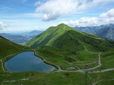 Autriche : dans une magnifique vallée, la Kleinwalzertal. Sur la commune de Riezlern, en haut du Kanzelwandbahn