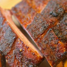 Memphis - Style Dry Rubbed Ribs - Memphis is not only the pork barbecue capital of the world, it's home to dry rubbed ribs. Here with her take on the Bluff City classic is Kingsford Invitational judge and owner of Memphis Barbecue Co. Rub Recipes, Grilling Recipes, Pork Recipes, Cooking Recipes, Smoker Recipes, Copycat Recipes, Fancy Recipes, Cooking Corn, Pork