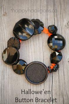 Hallowe'en Button Bracelet - happy hooligans
