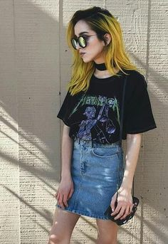 Best Fashion Style Edgy Soft Grunge Punk Ideas - All For Hair Color Trending Grunge Outfits, 90s Grunge, Grunge Hair, Grunge Fashion Soft, Summer Grunge, Edgy Style, Grunge Style, Cool Style, Hair Colors