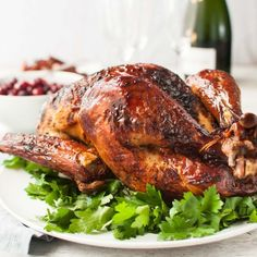 Dry brining turkey is the trick for truly juicy turkey. It's far more practical, roasts faster, has better flavor, and can be brined frozen!