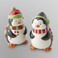 christmas salt and pepper shakers essential home playful penguin holiday salt pepper shaker - Christmas Salt And Pepper Shakers
