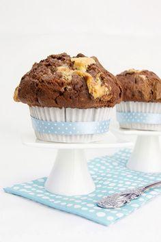 Veganpassion: Chocolate Chunk & Nougat Muffins