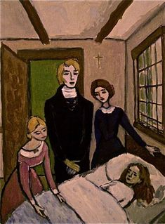 Chapter 29- Jane is nursed back to health by Hannah, Mary, Diana, and St. John. Jane criticizes Hannah for shutting her out and thinking that just because she is poor, she is not educated or able.