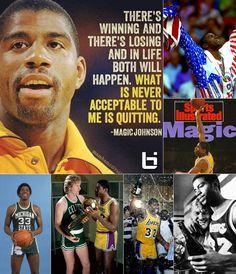 Happy Birthday to Magic Johnson Magic Johnson, Great Quotes, Athletes, Nba, Happy Birthday, Basketball, Baseball Cards, Shit Happens, Motivation
