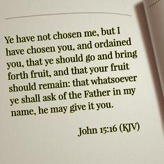 John 15:16 (KJV)