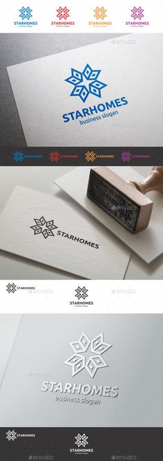 Buy Star Homes Construction Logo by djjeep on GraphicRiver. Star Homes Construction Logo – Company Logotype – Professional and elegant logo suitable for construction, real estat. Property Branding, Bank Branding, Property Logo, Business Slogans, Business Logo, Business Design, Logo Design Template, Logo Templates, Brochure Design