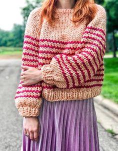 Sweater Knitting Patterns, Hand Knitting, Vogue Knitting, Knitting Machine, Vintage Knitting, Chunky Knitwear, Little Presents, Big Knits, Sweater Making