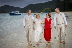 This maids dress is THE perfect shade of red An idyllic destination weddin at a secluded tropical island Wedding Beach, Wedding Bride, Destination Wedding, Wedding Ideas, Red Bridesmaids, Red Bridesmaid Dresses, Wedding Dresses, Shades Of Red, One Pic