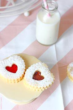 Biscuits sablés au Nutella et à la confiture de fraise