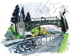 urban sketchers seattle | Documentation – Publications | Aquarelle, couleurs, papier, pinceaux ...