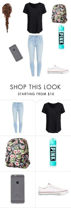 """8th grade outfit"" by kemihereee ❤ liked on Polyvore featuring Paige Denim, New Look, Vans and Converse"