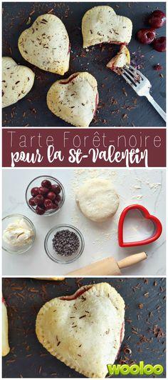 Mini tarte forêt-noire juste parfaite pour la St-Valentin!