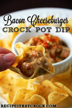 Bacon Cheeseburger Crock Pot Dip
