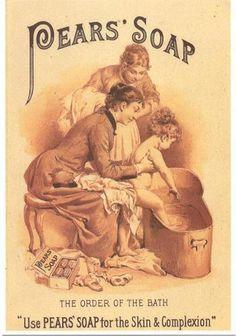 Art Print on Silk Advert Pear's Soap Little Girl in Copper Tub Use in Fiber Arts | eBay