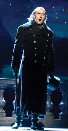 Earl Carpenter as Javert in Les Miserables at the Barbican Theatre. Why Les Miserables has run for so long.