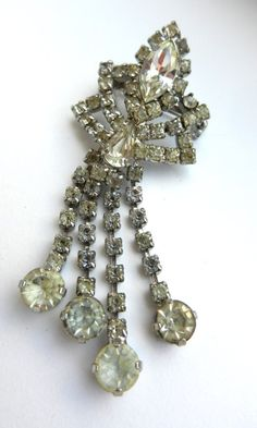 Lovely Brilliance Vintage clear Diamante dangle by RAKcreations