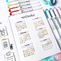 Colour coded mood tracker
