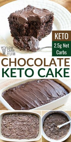 The BEST low carb chocolate cake ever! It whips up in no time and is very moist. The BEST low carb chocolate cake ever! It whips up in no time and is very moist. Low Carb Cake, Low Carb Cookies, Low Carb Chocolate Cake, Keto Cake, Low Carb Keto, Dessert Chocolate, Low Card Desserts, Healthy Desserts, Easy Desserts
