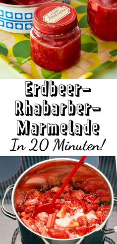 Erdbeer-Rhabarber-Marmelade – so geht's and united in one ! The early summer tastes so delicious. Related posts: Make strawberry jam yourself Strawberry Rhubarb Pie Strawberry and peach Breakfast Jam Keto-Friendly Strawberry Jam Healthy Eating Tips, Healthy Nutrition, Eating Habits, Chutneys, Easy Cooking, Healthy Cooking, Vegetable Drinks, Jam Recipes, Drink Recipes