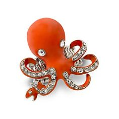 Red Octopus Ring from @jcpenney