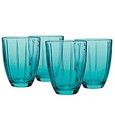 image of Noritake® Colorwave Glassware Tumblers in Turquoise (Set of 4)