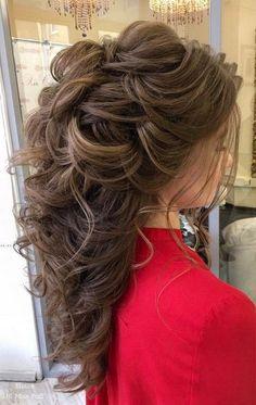 100 Wow-Worthy Long Wedding Hairstyles from Elstile Lange Hochzeitsfrisuren von Elstile Wedding Hairstyles For Long Hair, Wedding Hair And Makeup, Messy Hairstyles, Pretty Hairstyles, Hair Makeup, Hairstyle Wedding, Hairstyle Ideas, Hairstyles 2016, Bridal Hairstyles