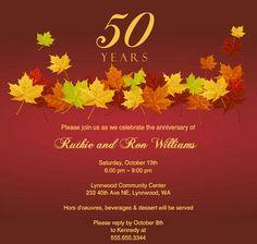 50th Wedding anniversary invite