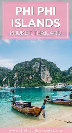 Island Hopping Phi Phi Islands of Thailand - Travel Pockets Thailand Vacation, Thailand Travel Guide, Visit Thailand, Asia Travel, Phuket Thailand, Bangkok, Khao Lak, Phi Phi Island, Travel Channel
