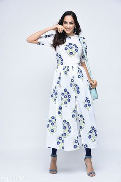 Checkout this latest Semi-Stitched Suits Product Name: *Beautiful Women's Printed Kurti* Fabric: Cotton Sleeves: Sleeves are Included Size:  M - 38 in  L - 40 in  XL - 42 in  XXL - 44 in Length : Up To 48 in Type: Stitched Description: It Has 1 Piece Of Women's Kurti Work: Printed Country of Origin: India Easy Returns Available In Case Of Any Issue   Catalog Rating: ★4.2 (242)  Catalog Name: Siya Stylish Womens Printed Kurtis Vol 3 CatalogID_183188 C74-SC1326 Code: 025-1414099-2061