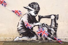 Banksy's Union Jack Child Labor Stencil in London | Hypebeast