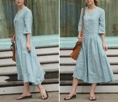 Blue Clear Skylight blue long sundressmore colour by thesimpson, $63.00