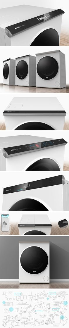 Rotate this washing machine's display to set your washing preferences with ease Dashboard Design, Ui Ux Design, Graphic Design, Domestic Appliances, Home Appliances, User Centered Design, Multi Camera, User Experience, Customer Experience