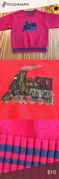 Gap Train Sweater. Size xsmall (4-5) Gap Train Sweater. Size xsmall (4-5)  cotton GAP Shirts & Tops Sweaters
