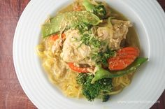 Slow Cooker Coconut Thai Curry Chicken Breasts under 200 calories, low-carb, paleo, gluten-free