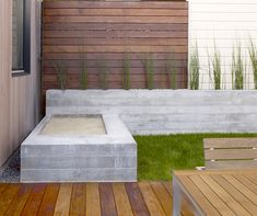 Back yard concrete patio ideas square concrete tile for Garden design yates