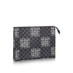 Pochette Voyage - Damier Graphite Canvas - Travel | LOUIS VUITTON Louis Vuitton Damier, Graphite, Canvas, Pattern, Bags, Travel, Graffiti, Tela, Handbags
